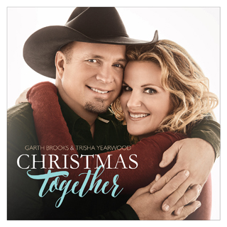 Garth and Trisha on the cover of their Christmas album