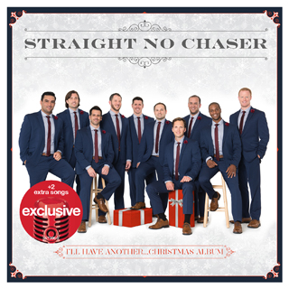 The Straight No Chaser ensemble on the cover of their new album
