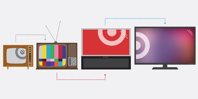 Illustrations of TVs through the past decades