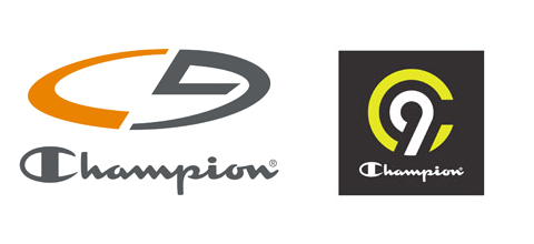 The current orange and grey logo is shown alongside the new, black, white and neon logo.