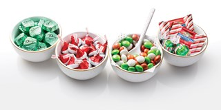 Four dishes of Target-exclusive holiday candy