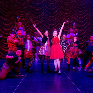 Isabella, Kylie and the live show cast perform a number