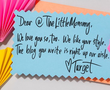 Target love note to @TheLittleMommy