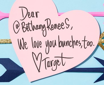 Target love note to @BethanyRenees