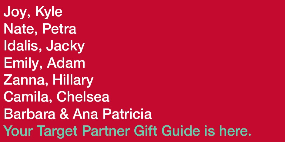 List of Target partners featured in the gift guide