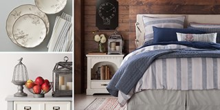 Photo collage of product images from the new Beekman 1802 collection