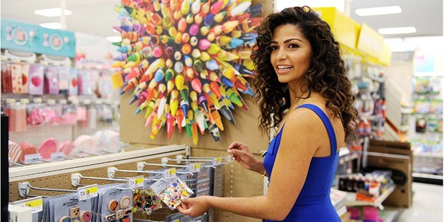 Camila Alves shopping for school supplies at Target