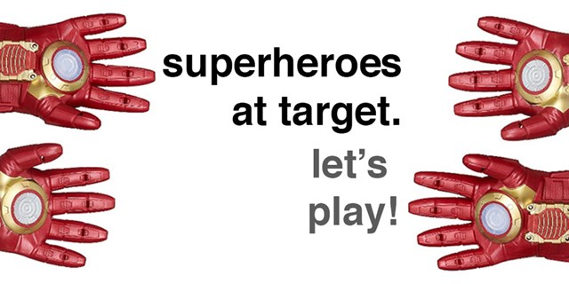 superheroes at target. let's play!