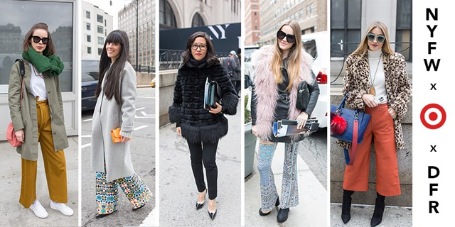 Collage of Street Style for NYFW 2016