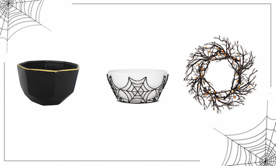 Sweet entryway collage featuring bowls and a twig wreath