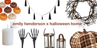 Collage of halloween home decor selects