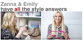 Zanna Roberts Rassi and Emily Henderson video stills showing how to organize a closet