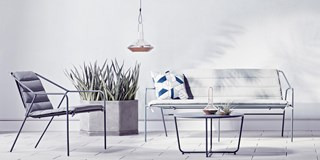 Indoor outdoor set up from Modern by Dwell for Target