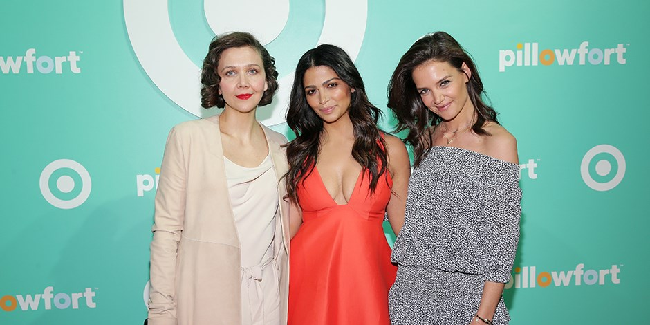 Pillowfort event with Maggie Gyllenhaal, Camila Alves, and Katie Holmes