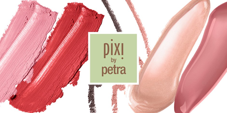 Smears of pixi by petra makeup under logo