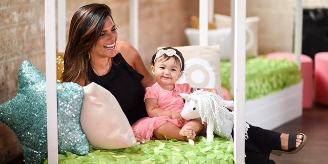 Barbara Bermudo with youngest daughter Sofia at Sofia's first birthday party