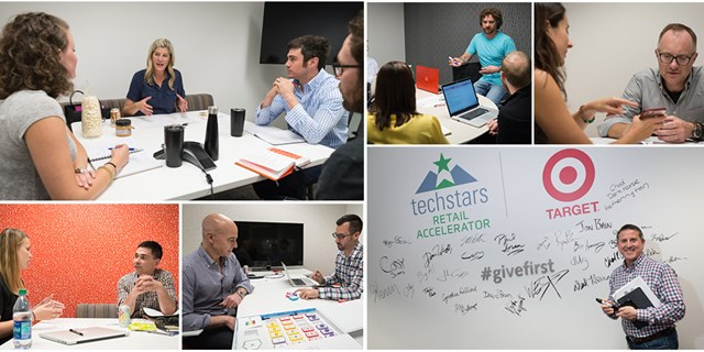Collage of images from Techstars meeting