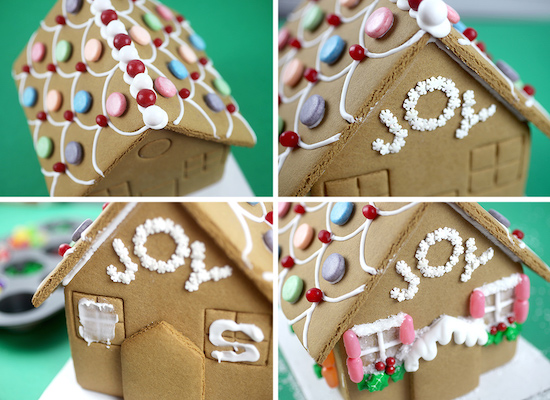 gingerbread house being decorated - Target Christmas Decorations 2016