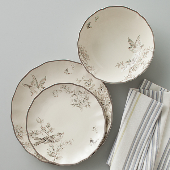 Farmhouse-inspired plates from the Beekman collection