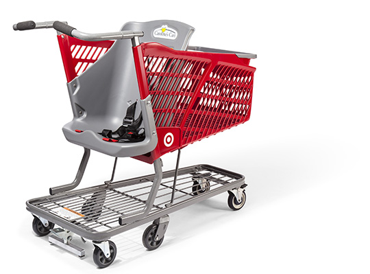 A Target-branded Caroline's Cart with seat facing forward.