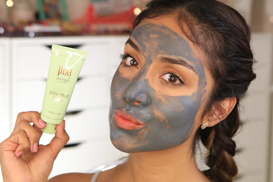 Dulce Candy wearing the PIXI by Petra Glow mud Mask