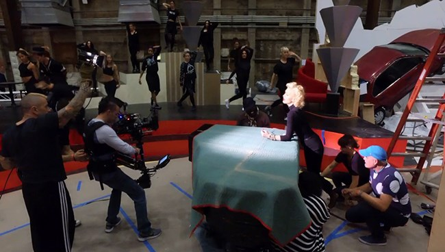 Behind the Scenes of Gwen Stefani's Live Music Video with Target