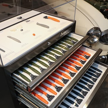 Harry's razor display at the launch event