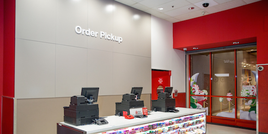 Order pickup counter