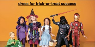 Kids in Target halloween costumes