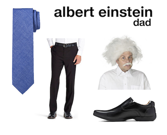 Einstein costume selects for dad