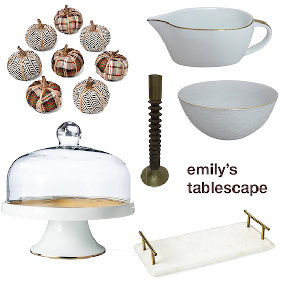 Emily Henderson's product picks for her Thanksgiving tablescape
