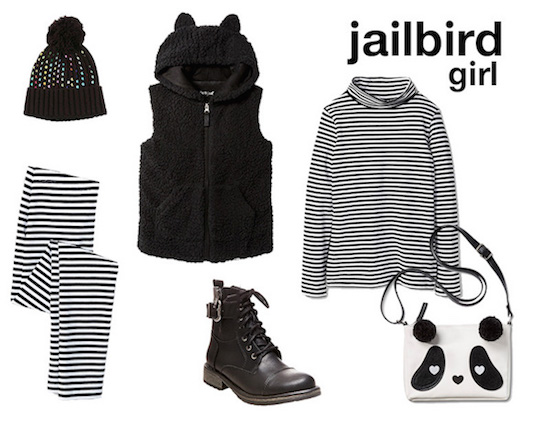 Little girl jailbird costume