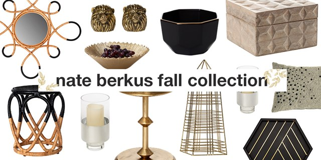 Collage of items from the new Nate Berkus fall collection