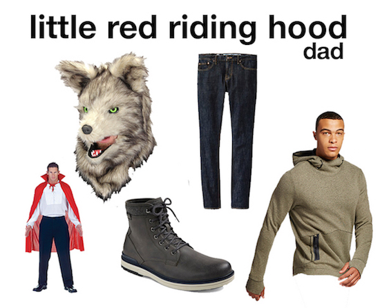 Red riding hood selects for dad