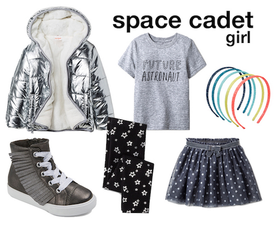 Space cadet outfit selects for girl