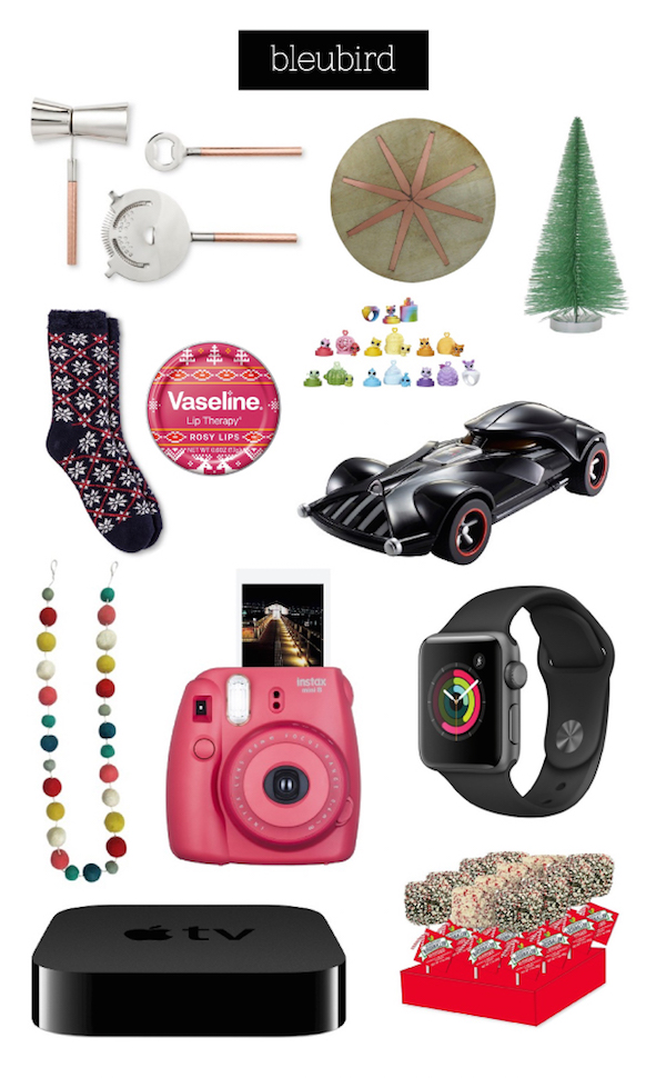 Collage of stocking stuffer items