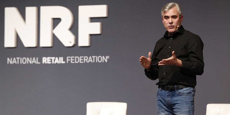 Target's Mike McNamara onstage at the NRF's Big Show