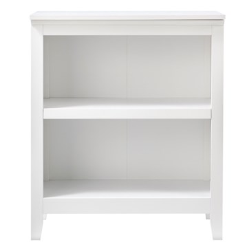white two-shelf bookcase from Threshold