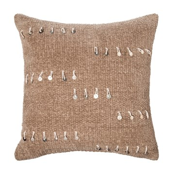 Threshold tan sequin throw pillow
