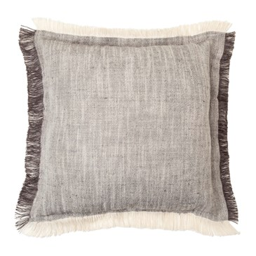 Threshold grey fringe throw pillow