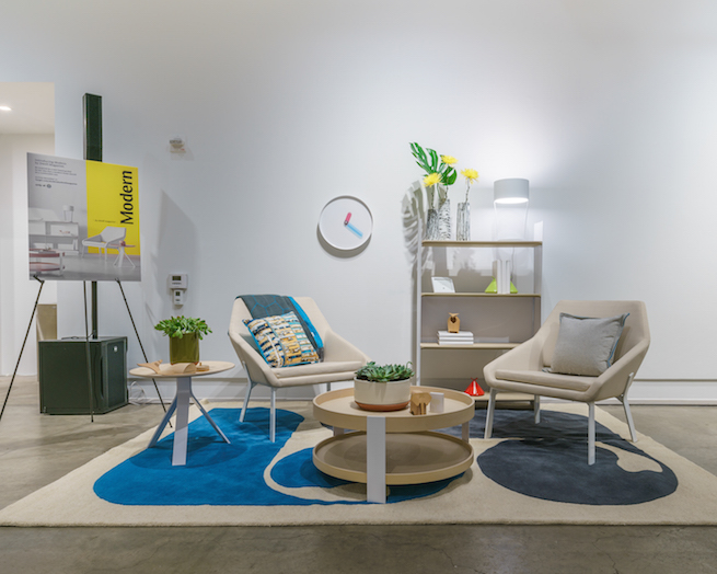 Living Room Set Up With Modern By Dwell Magazine Products