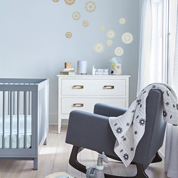 image of a nursery decorated in new Nate Berkus decor
