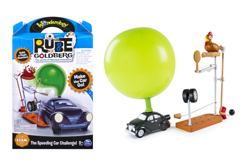 The Speeding Car Challenge in it's packaging and set up