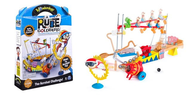 """The Acrobat Challenge"" kit, show in package and set up."