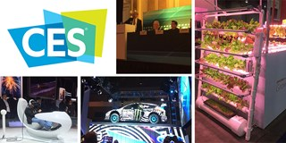 CES logo alongside photos from the conference