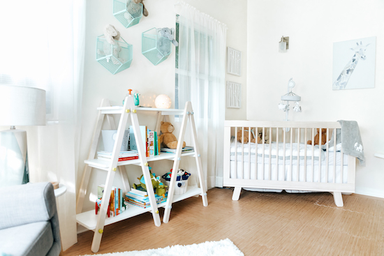 Cloud Island crib and other products in the Baldoni's new nursery