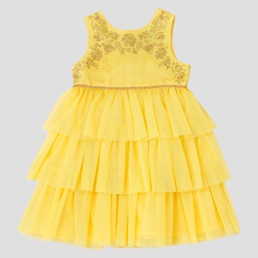 Baby & Toddler Girls' Beauty and the Beast Empire Dress, $22.99