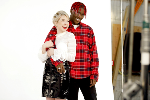 Carly Rae Jepsen and Lil Yachty pose for a behind-the-scenes pic