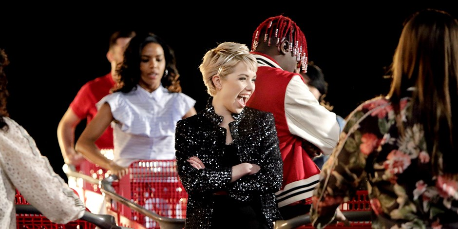 Carly Rae Jepsen, Lil Yachty and dancers perform a dance number featuringTarget shopping carts