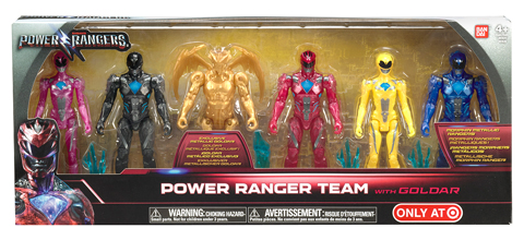 Five-piece action figure set, shown in it's packaging